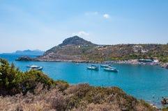 Родос, Греция - 11-ое августа 2018: Залив ` s Пола апостола, Родос, Греция стоковая фотография rf