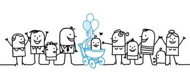 рождение младенца иллюстрация штока