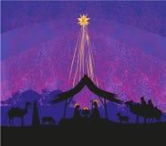 рождение jesus Вифлеема бесплатная иллюстрация