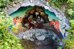 Рождение Jesus в утесе Стоковая Фотография RF