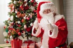 Рожденственская ночь Санта Клауса стоковые изображения rf