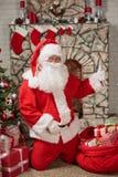 Рожденственская ночь Санта Клауса стоковая фотография
