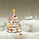 Рожденственская ночь иллюстрация штока