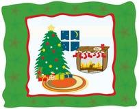 Рожденственская ночь иллюстрация вектора