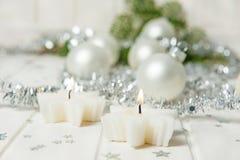 Рождества жизнь все еще с свечками Стоковые Изображения
