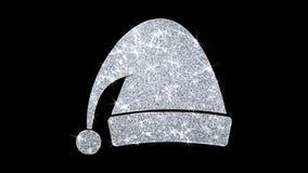Рождества орнамента santa шляпы элемента моргать предпосылка частиц значка