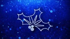 Рождества падуба ягоды элемента моргать предпосылка частиц значка