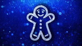 Рождества пряника орнамента человека элемента моргать предпосылка частиц значка