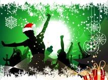 рождественская вечеринка предпосылки Стоковые Изображения