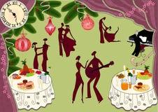 рождественская вечеринка бесплатная иллюстрация
