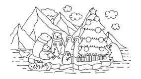 Рождественская вечеринка Alasca иллюстрация вектора