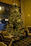 Рождественская елка в живущей комнате Стоковое Изображение