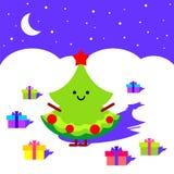 Рождественская елка в ноче Стоковая Фотография RF