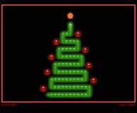 Рождественская елка в типе игры змейки иллюстрация вектора