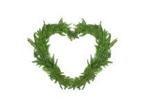 Рождественская елка в форме сердца Стоковое Изображение RF