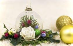 Рождественская елка, декоративная рождественская елка Новый Год украшений рождества Обои Нового Года и рождества Стоковая Фотография