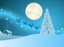 Рождественская елка звезд на месте зимы Стоковые Фотографии RF