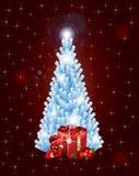 Рождественская елка звезд с подарками Стоковое Изображение