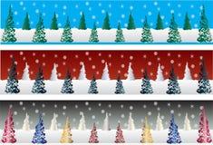 рождественская елка знамен Бесплатная Иллюстрация