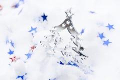 Рождественская елка и звезды стоковая фотография