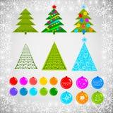 Рождественская елка и игрушки стоковая фотография rf