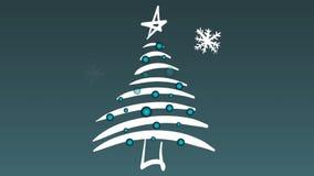 Рождественская елка и снежности иллюстрация вектора