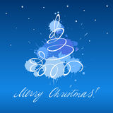 рождественская елка карточки Стоковые Фотографии RF