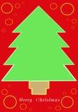 рождественская елка карточки Бесплатная Иллюстрация