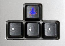 рождественская елка кнопки Стоковое фото RF