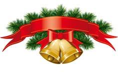 рождественская елка колоколов иллюстрация штока