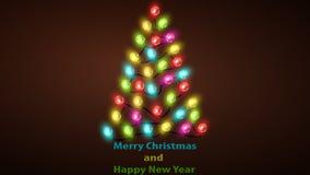 Рождественская елка красочных светов СИД бесплатная иллюстрация