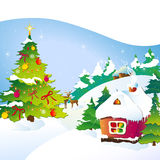 Рождественская елка, Кристмас, Новый Год, предпосылка иллюстрация вектора
