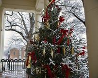 Рождественская елка на здании суда в Warrenton Вирджинии стоковое фото rf