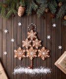 Рождественская елка от звезд пряника стоковое изображение