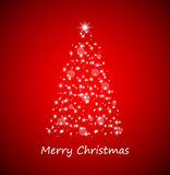 Рождественская елка от звезд Стоковое Фото