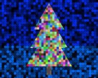 Рождественская елка пиксела Стоковое Изображение