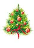 Рождественская елка, рождество, Новый Год, предпосылка иллюстрация штока