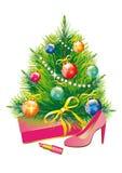 Рождественская елка, рождество, Новый Год, предпосылка Стоковое фото RF