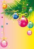 Рождественская елка, рождество, Новый Год, предпосылка Стоковая Фотография