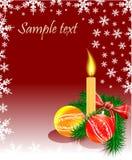 рождественская елка свечки пузырей Стоковое Изображение RF