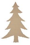 Рождественская елка сделанная из гофрированного картона Стоковая Фотография