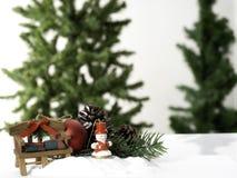 Рождественская елка состава большая украсила стоковая фотография