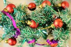Рождественская елка с игрушками Стоковые Фотографии RF