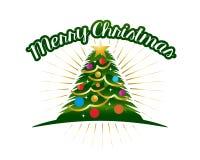 Рождественская елка с красочными кругами стоковое фото rf