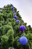 Рождественская елка с шариками стоковое изображение rf