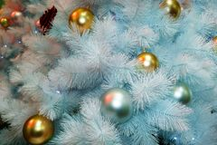 Рождественская елкаукрашение, торжество Нового Года стоковое фото rf