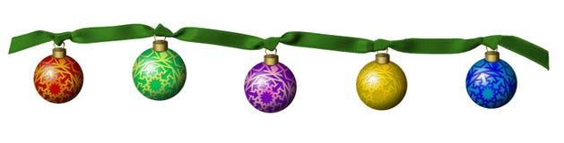 рождественская елка шариков иллюстрация вектора