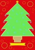 рождественская елка 2 карточек Иллюстрация штока