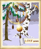 Рождественская открытка вектора Стоковое фото RF
