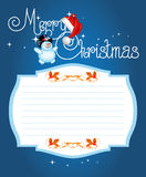 Рождественская открытка. Помечать буквами с Рождеством Христовым Стоковые Фото